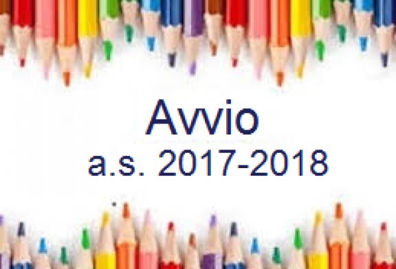 Indicazioni avvio a.s. 2017/2018