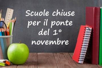 Sospensione attività didattiche e chiusura scuola ponte di Ognissanti