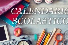 Calendario scolastico 2018/2019.