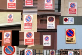 Disposizioni accesso auto edificio via Stabia