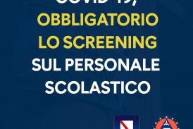 Ordinanza Presidente Regione Campania N. 70 del 8 settembre 2020 – Obbligo del personale scolastico di sottoporsi al test sierologico e/o tampone