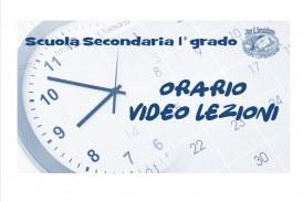 Scuola Secondaria di 1° grado: Orario video lezioni dal 26 ottobre al 13 novembre