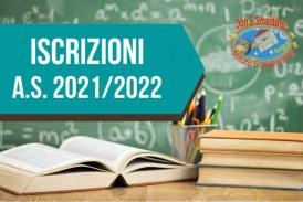 Iscrizioni alunni Scuola dell'Infanzia, Primaria, Secondaria di 1° grado anno scolastico 2021/2022
