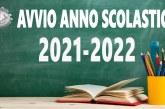AVVIO ANNO SCOLASTICO 2021/2022