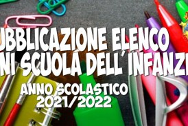 Avviso pubblicazione sezioni Scuola dell'Infanzia a.s. 2021/2022