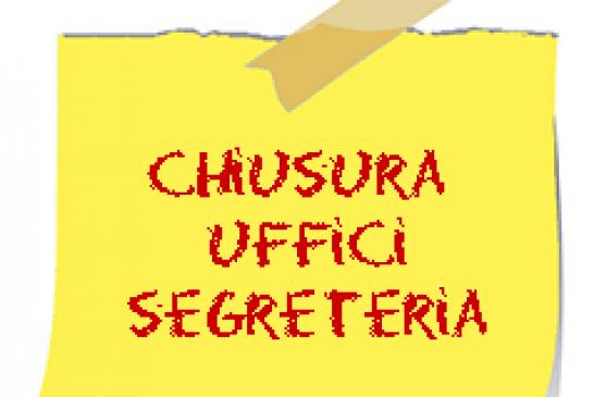 Emergenza Coronavirus – Proroga chiusura Ufficio di Segreteria fino al 13/06/2020