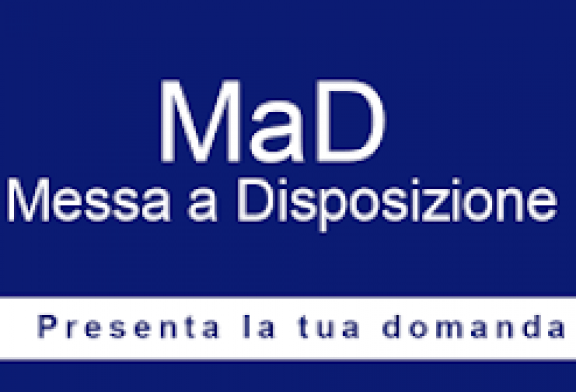 Regolamentazione domande di messa a disposizione (MAD) e modalità invio a.s. 2021/2022