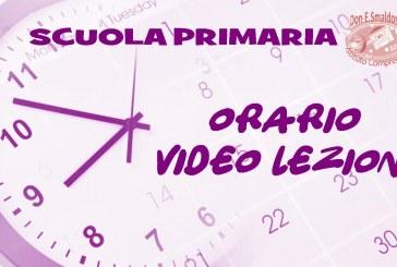 Scuola Primaria: Rettifica orario video lezioni classi prime dal 17 al 22 dicembre