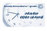 Scuola Secondaria di 1° grado: Orario attività didattiche a distanza