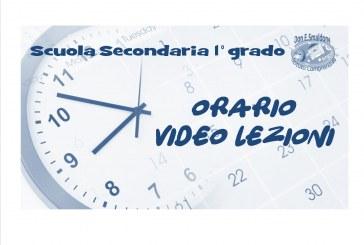 Scuola Secondaria primo grado: Orario video lezioni dal 14 al 22 dicembre