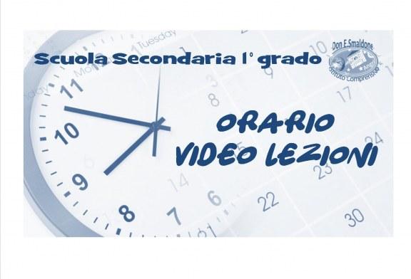 Scuola Secondaria di 1° grado: Orario video lezioni dal 19 al 23 ottobre